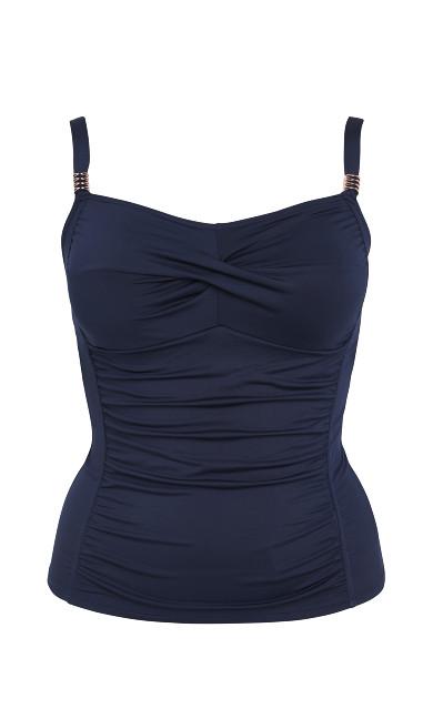 Navy Blue Tankini Top