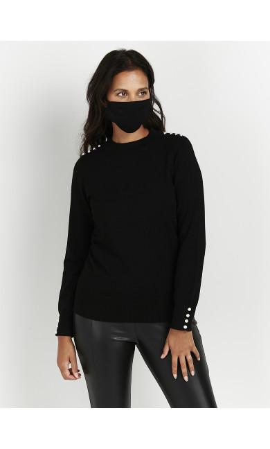 Face Mask 2 Pack - black