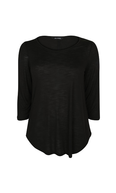 Black 3/4 Sleeve T-Shirt