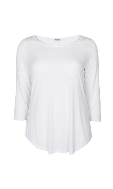 White 3/4 Sleeve T-Shirt