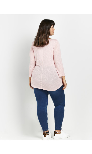 Blush 3/4 Sleeve T-Shirt