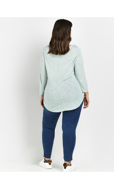Green 3/4 Sleeve T-Shirt