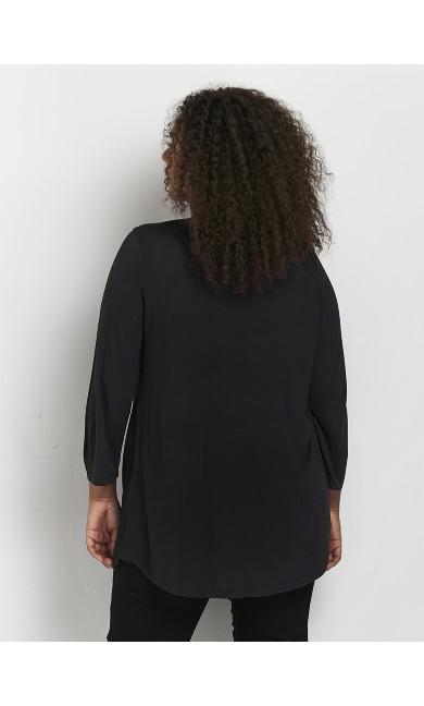 Black V-Neck Top