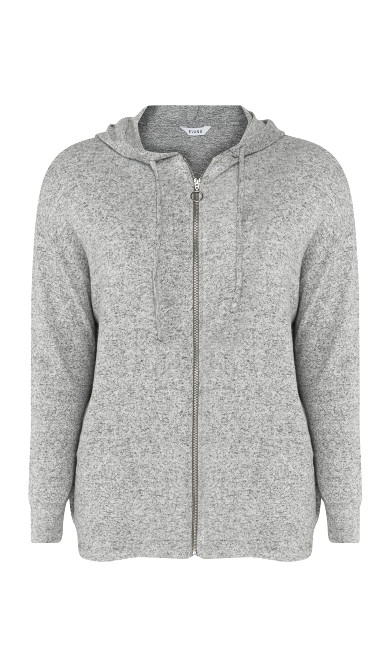 Soft Touch Hoodie - grey