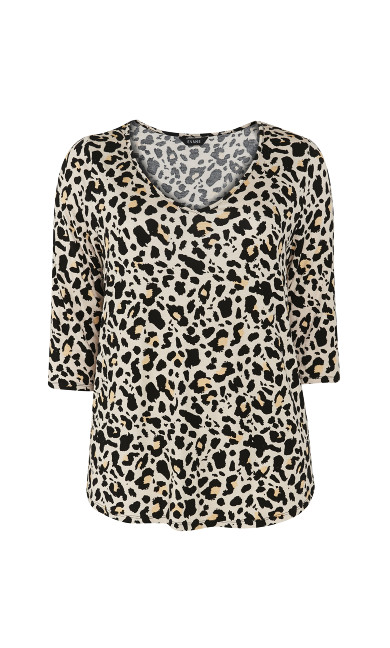 Neutral Animal Print Top