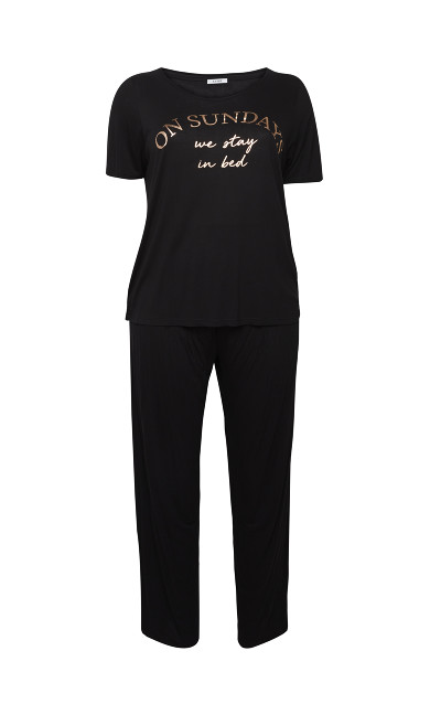 Stay In Bed PJ Set - black