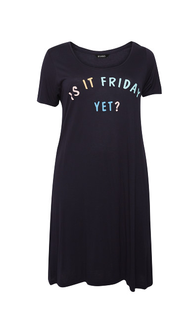 Is It Friday Yet Sleep Dress - navy
