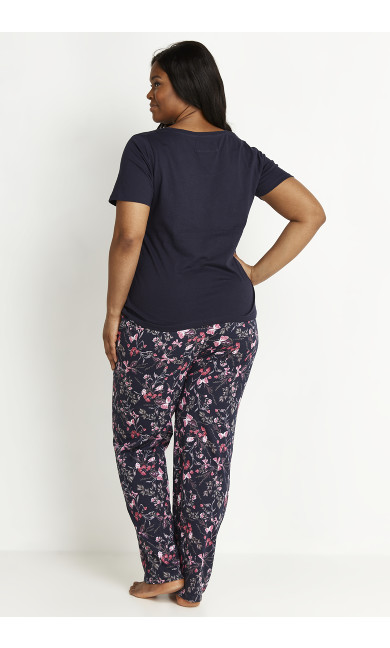 Butterfly PJ Set - navy
