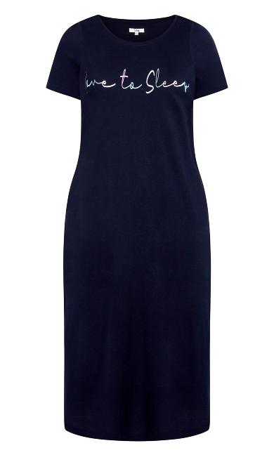 Love To Sleep Maxi Sleep Dress - navy