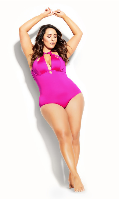 Cancun Underwire 1 Piece - fuchsia