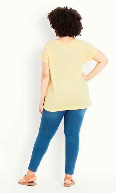 V Neck Tee - yellow