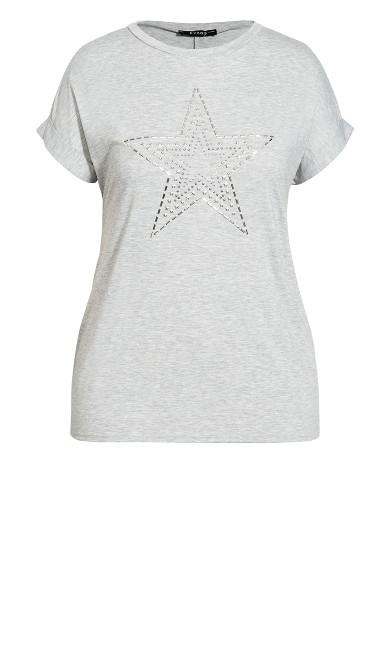 Star Tee - grey