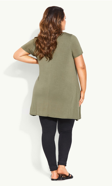 Plain Swing Tee - khaki