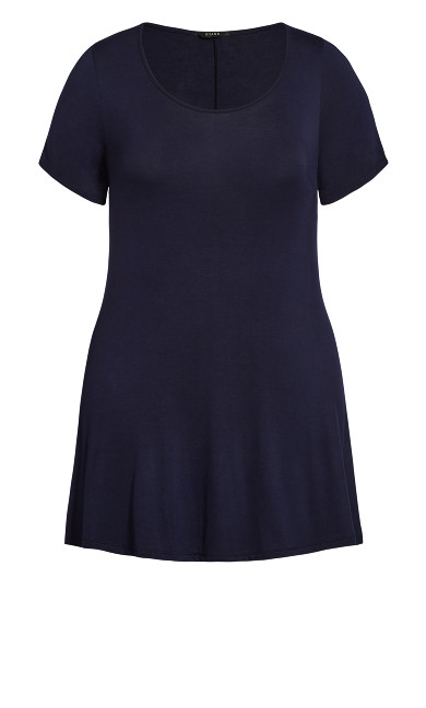 Plain Swing Tee - navy