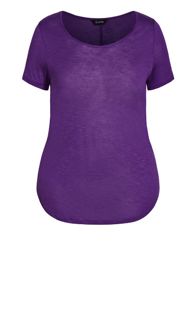 Slub Tee - purple