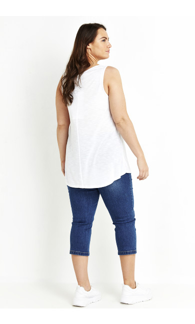 Slub Vest - white