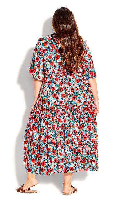 Val Print Dress - poppy