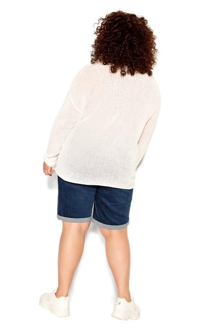 Lori Long Sleeve  Sweater - ivory