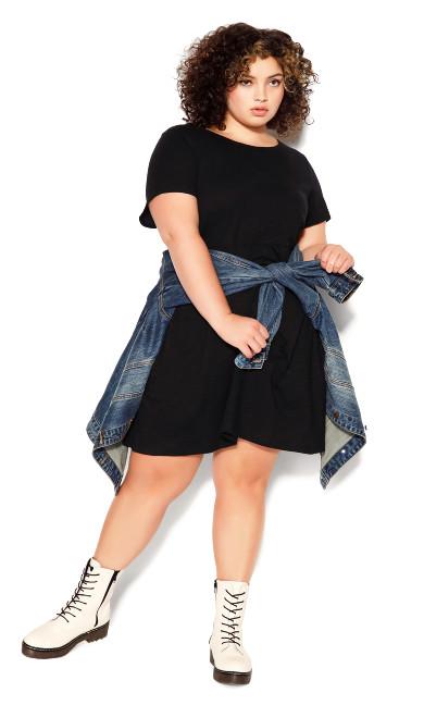 Kyra Knit Dress - black