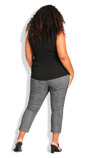 Super Stretch Print Crop Trousers - gingham