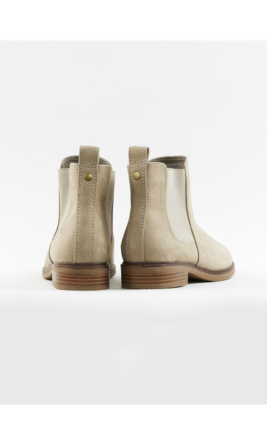 EXTRA WIDE FIT Neutral Elastic Side Boots