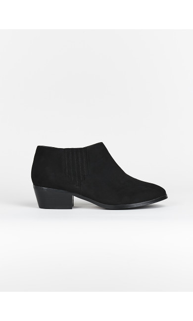 EXTRA WIDE FIT Black Low Boots