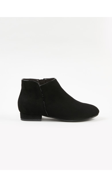 EXTRA WIDE FIT Black Ankle Boots