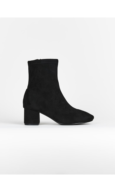 EXTRA WIDE FIT Black Sock Boots