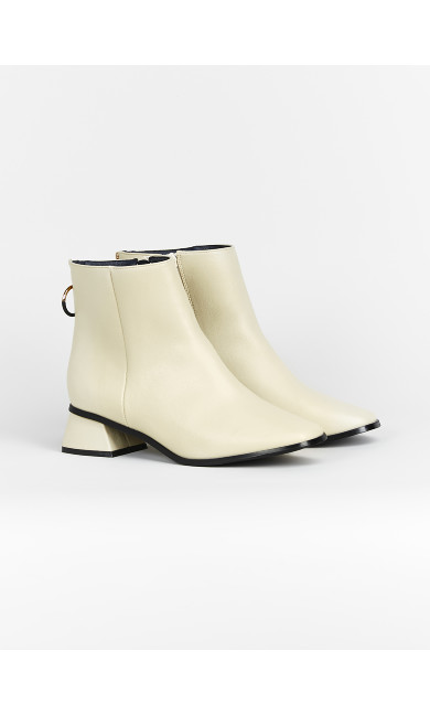 EXTRA WIDE FIT Ivory Ring Zip Ankle Boots