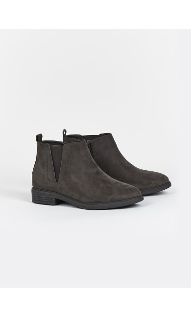 EXTRA WIDE FIT Brown Heeled Ankle Boot