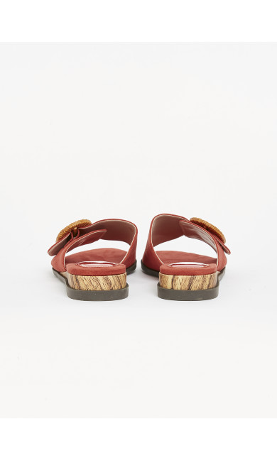 EXTRA WIDE FIT Rust Buckle Sandals