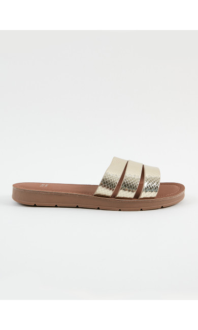 EXTRA WIDE FIT Gold Sandals