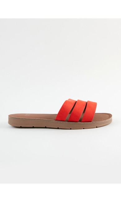 EXTRA WIDE FIT Orange Sandals