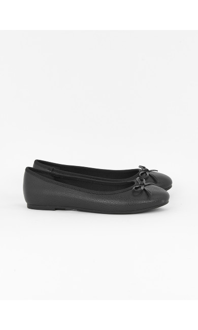 EXTRA WIDE FIT Black Ballet Pumps