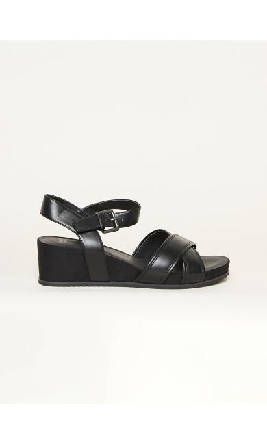 WIDE FIT Comfort Wedge - black