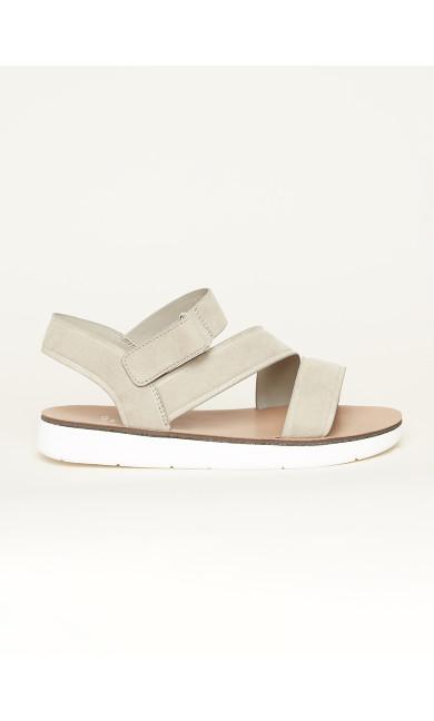 WIDE FIT Cross Strap Sporty Sandal - grey