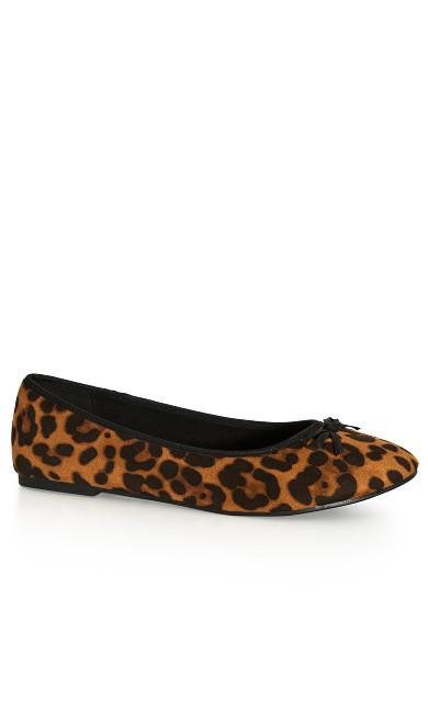 WIDE FIT Leopard Ballet Flat - neutral