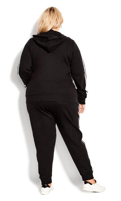 Double Stripe Zip Jacket - black