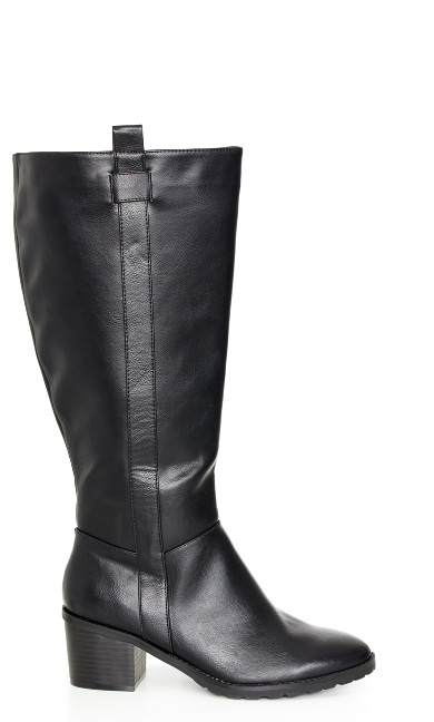 EXTRA WIDE FIT Morris Long Boot - black