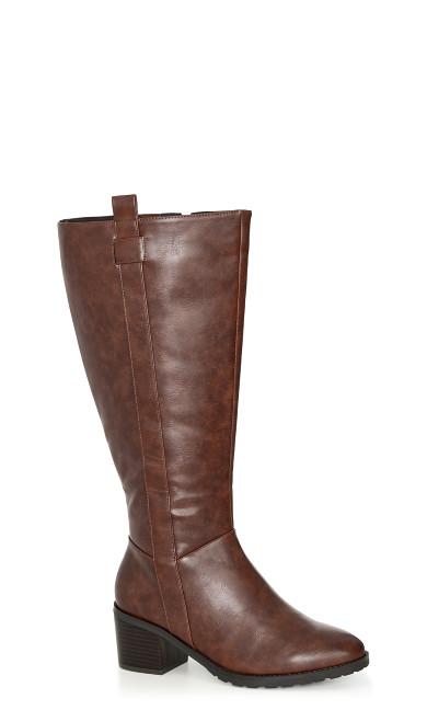 WIDE FIT Morris Long Boot - brown
