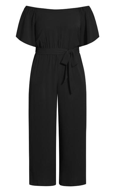 Off Shoulder Jumpsuit - black