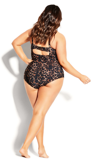 Cancun Underwire 1 Piece - animal