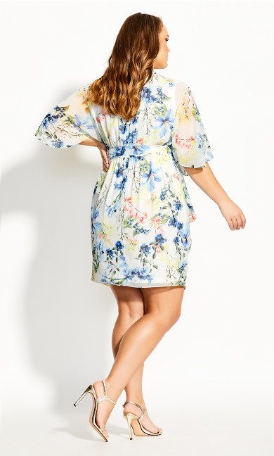 Natalia Floral Dress - ivory