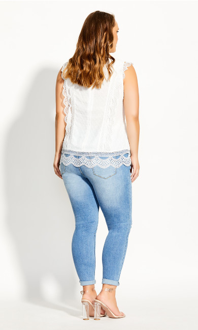 Lace Folly Top - ivory