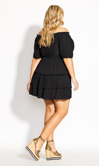 Fiesta Fringe Dress - black