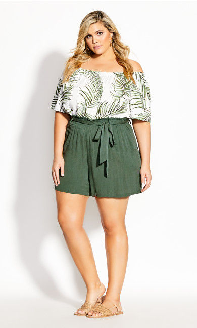 Tropical Tie Short - jungle