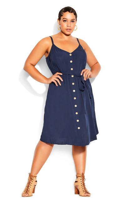 Date Day Dress - navy