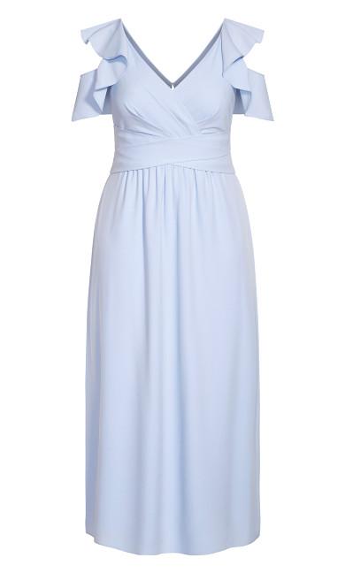 Frill Treasure Maxi Dress - powder blue