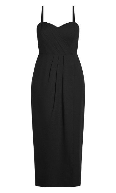 Sweet Drape Maxi Dress - black