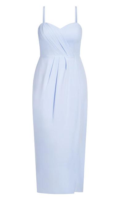 Sweet Drape Maxi Dress - powder blue